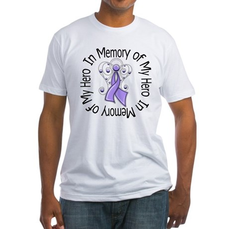 In Memory Angel - Cancer Fitted T-Shirt