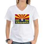 Arizona State Prison Women's V-Neck T-Shirt