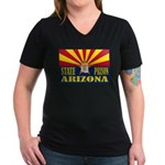 Arizona State Prison Women's V-Neck Dark T-Shirt