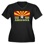 Arizona State Prison Women's Plus Size V-Neck Dark