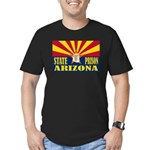 Arizona State Prison Men's Fitted T-Shirt (dark)