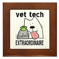 Vet Tech Extraordinaire Framed Tile