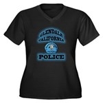Glendale PD Gang Squad Women's Plus Size V-Neck Da