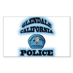Glendale PD Gang Squad Sticker (Rectangle)