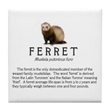 Unique Ferret Tile Coaster