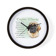 English Mastiff Wall Clock