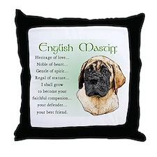 English Mastiff Throw Pillow