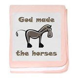 God Made Horses baby blanket