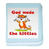 God Made Kitties baby blanket