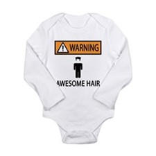 Awesome Spiked Hair Long Sleeve Infant Bodysuit