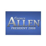 GEORGE ALLEN PRESIDENT 2008 Rectangle Magnet (10 p