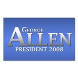GEORGE ALLEN PRESIDENT 2008 Rectangle Decal