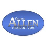 GEORGE ALLEN PRESIDENT 2008 Oval Decal