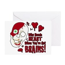 Cute Zombie valentine Greeting Cards (Pk of 20)
