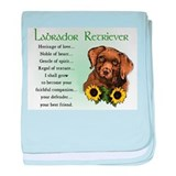 Chocolate Lab baby blanket