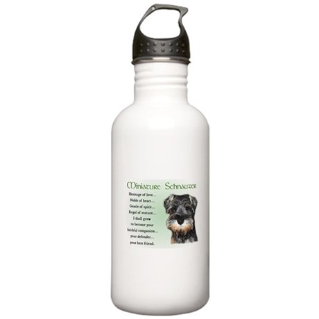 Miniature Schnauzer Stainless Water Bottle 1.0L