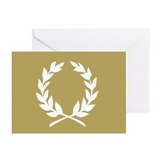 laural wreath (gold): Greeting Cards (Pk of 10)