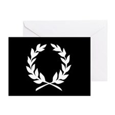 laural wreath (black): Greeting Cards (Pk of 10)