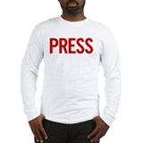 Press (red) Long Sleeve T-Shirt