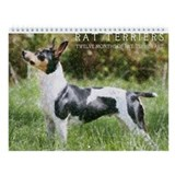 Wall Calendar - Rat Terrier Art