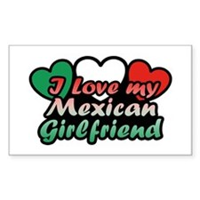 I Love My Mexican Girlfriend Decal