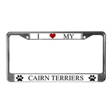 White I Love My Cairn Terriers Frame