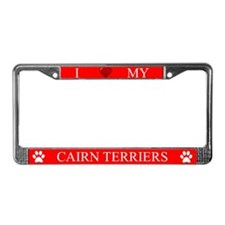 Red I Love My Cairn Terriers Frame