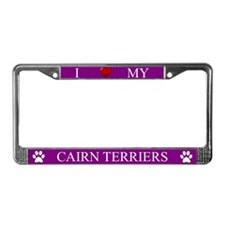 Purple I Love My Cairn Terriers Frame