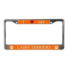 Orange I Love My Cairn Terriers Frame