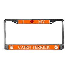 Orange I Love My Cairn Terrier Frame