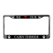 Black We Love Our Cairn Terrier Frame