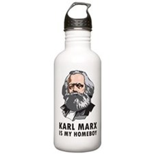 Karl Marx Is My Homeboy Sports Water Bottle