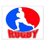 rugby player Small Poster