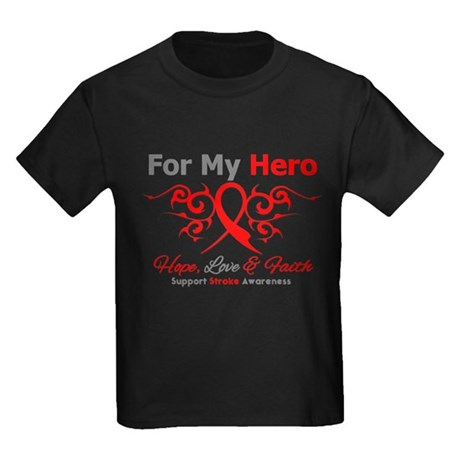 Stroke Hero Tribal Kids Dark T-Shirt