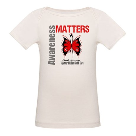 Stroke Awareness Matters Organic Baby T-Shirt
