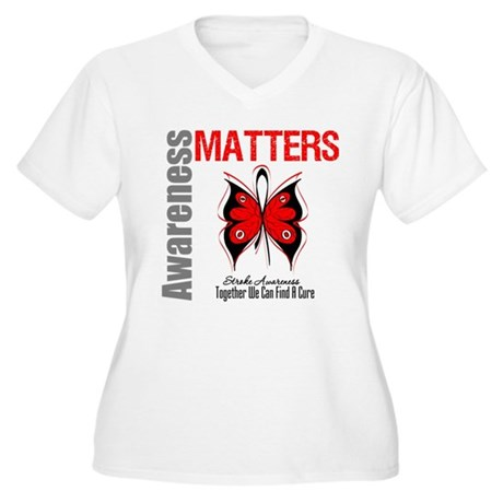Stroke Awareness Matters Women's Plus Size V-Neck