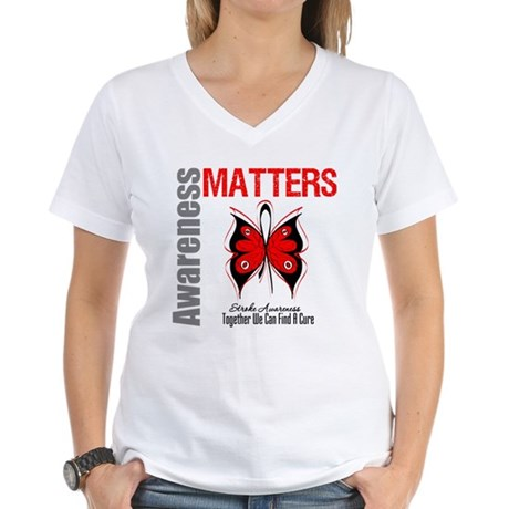 Stroke Awareness Matters Women's V-Neck T-Shirt