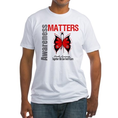 Stroke Awareness Matters Fitted T-Shirt