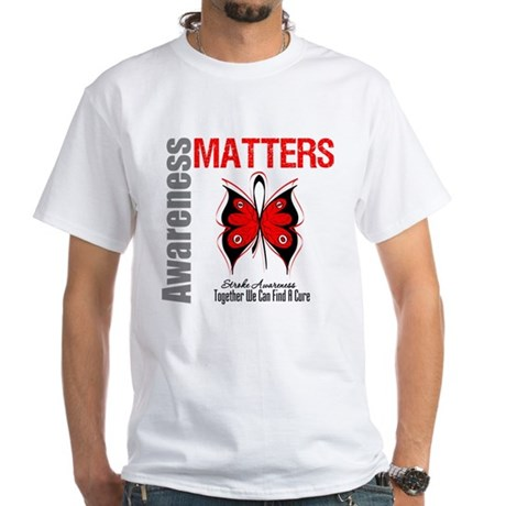Stroke Awareness Matters White T-Shirt