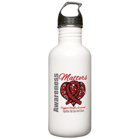 Stroke Mosaic Heart Stainless Water Bottle 1.0L