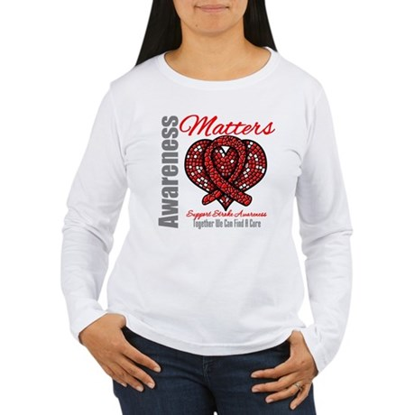 Stroke Mosaic Heart Women's Long Sleeve T-Shirt
