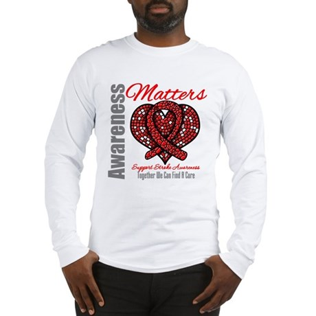 Stroke Mosaic Heart Long Sleeve T-Shirt