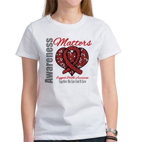 Stroke Mosaic Heart Women's T-Shirt