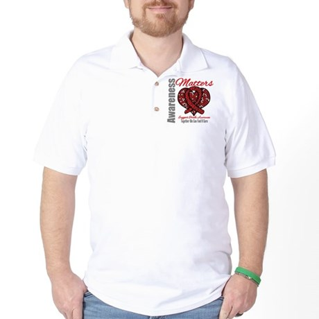 Stroke Mosaic Heart Golf Shirt