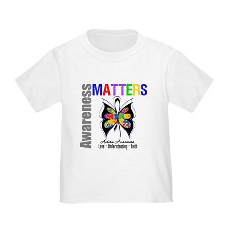 Colorful Autism Butterfly Toddler T-Shirt