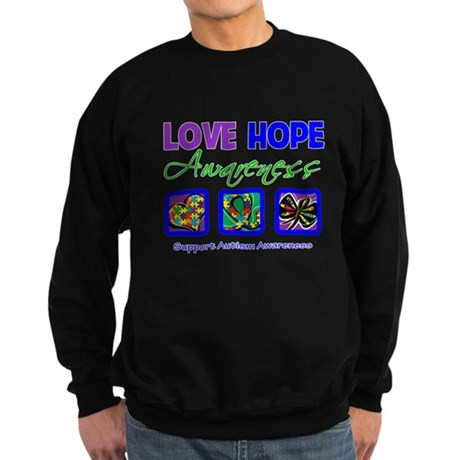 Autism Love Hope Sweatshirt (dark)