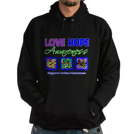 Autism Love Hope Hoodie (dark)