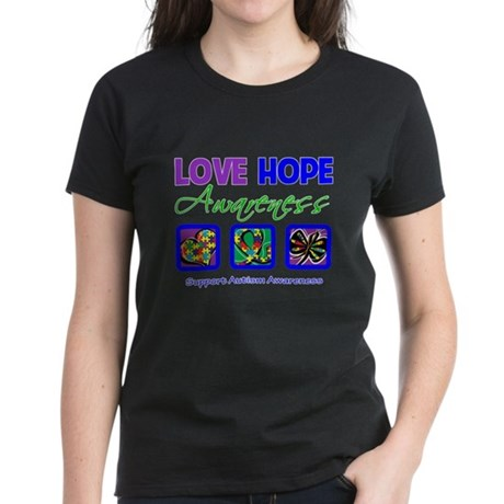 Autism Love Hope Women's Dark T-Shirt