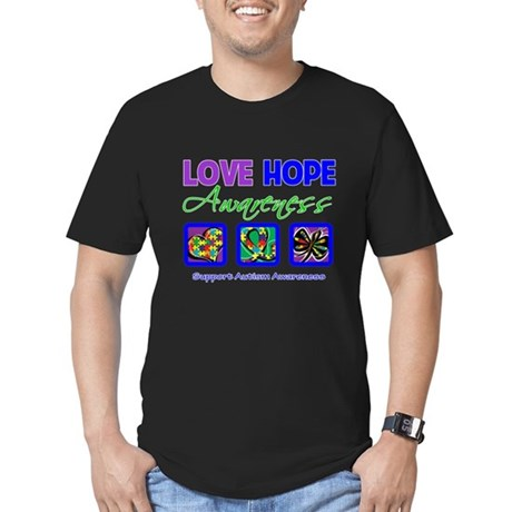 Autism Love Hope Men's Fitted T-Shirt (dark)