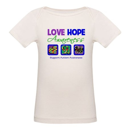 Autism Love Hope Organic Baby T-Shirt